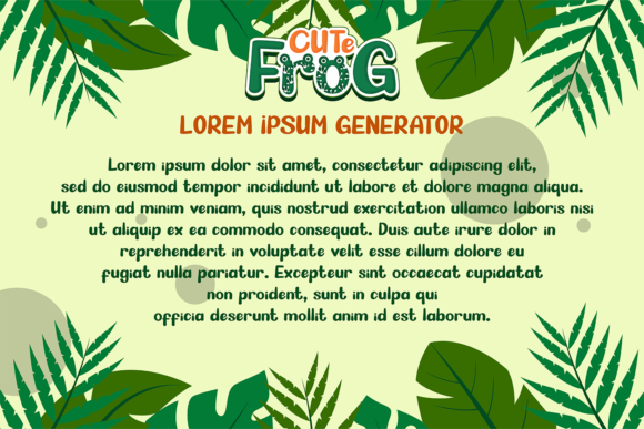 Print on Demand: Cute Frog Display Font By afredo.fk - Image 7