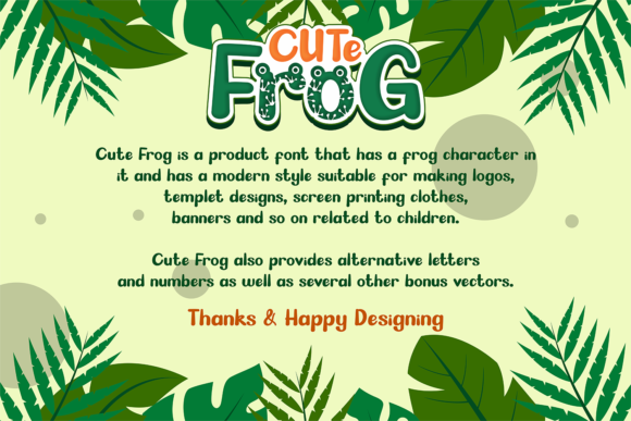 Print on Demand: Cute Frog Display Font By afredo.fk - Image 8