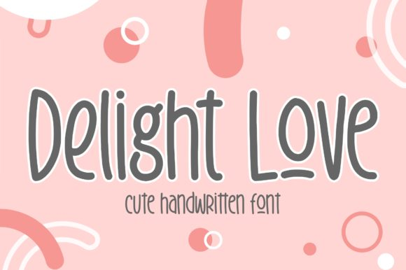Print on Demand: Delight Love Display Font By Garisman Studio
