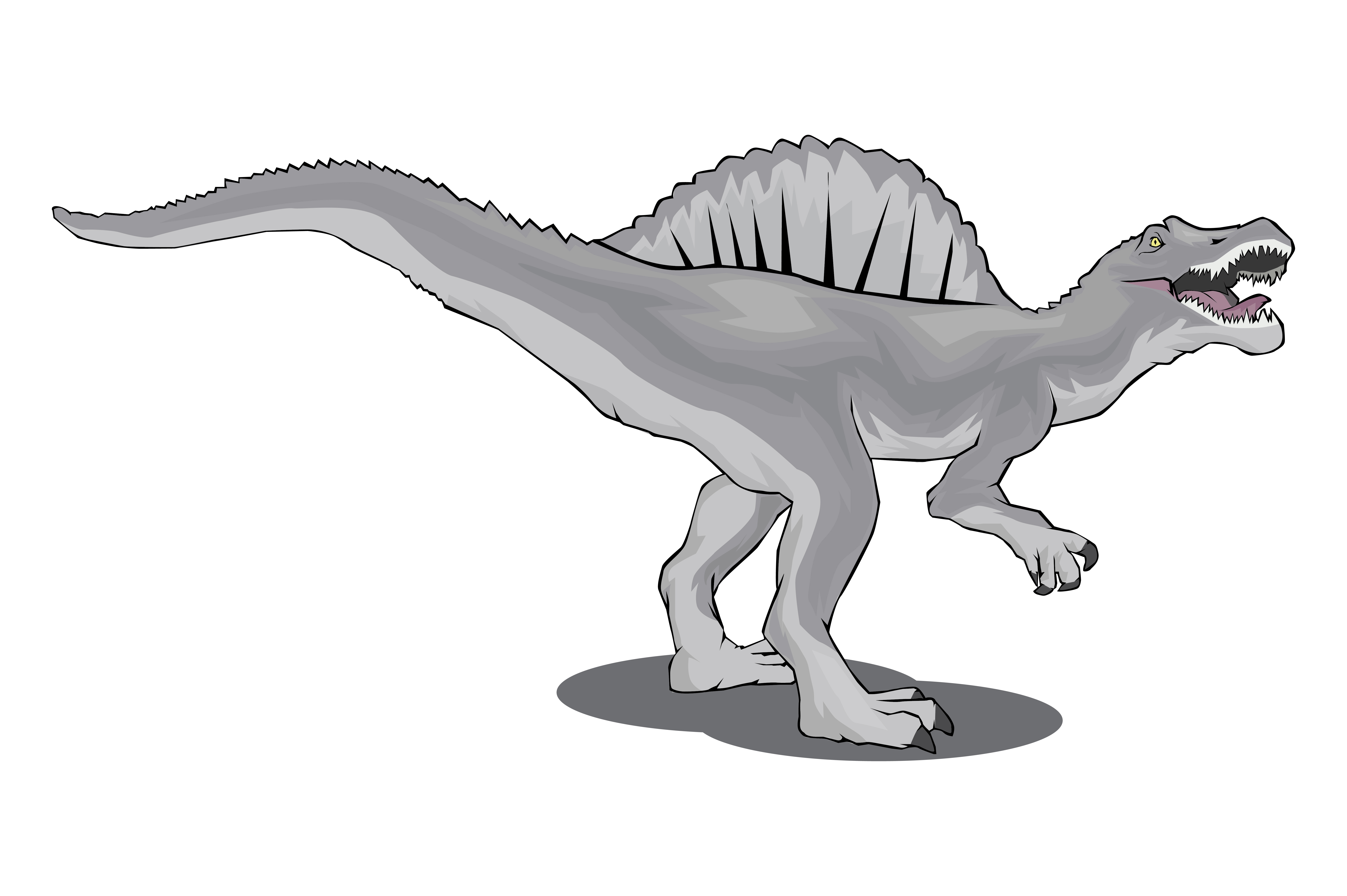 Download Free Dinosaur Ilustration Spinosaurus Graphic By Rfg Creative Fabrica for Cricut Explore, Silhouette and other cutting machines.