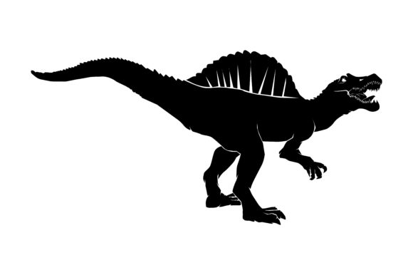 Download Free Dinosaur Silhouette Spinosaurus Graphic By Rfg Creative Fabrica SVG Cut Files