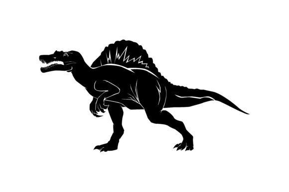 Download Free Dinosaur Silhouette Spinosaurus Graphic By Rfg Creative Fabrica for Cricut Explore, Silhouette and other cutting machines.