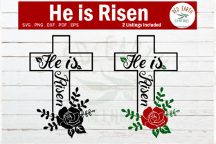Download Free He Is Risen Graphic By Redearth And Gumtrees Creative Fabrica for Cricut Explore, Silhouette and other cutting machines.