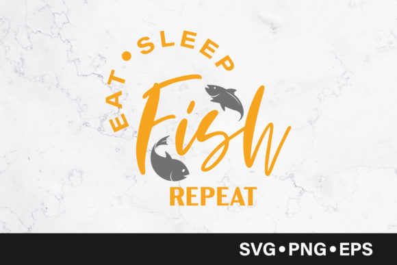 Download Free Eat Sleep Fish Repeat Quote Graphic By Vectorbundles Creative for Cricut Explore, Silhouette and other cutting machines.