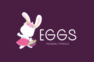 Print on Demand: Eggs Display Font By Seemly Fonts