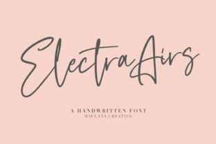 Print on Demand: Electra Airs Script & Handwritten Font By Maulana Creative