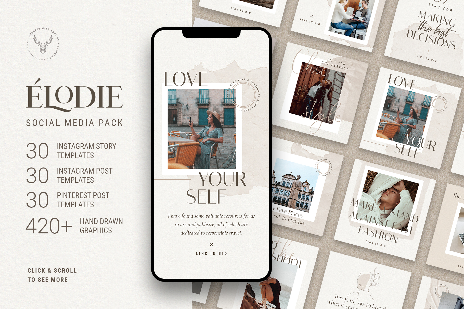 Download Free Elodie Social Media Pack Grafico Por Silverstag Creative Fabrica for Cricut Explore, Silhouette and other cutting machines.