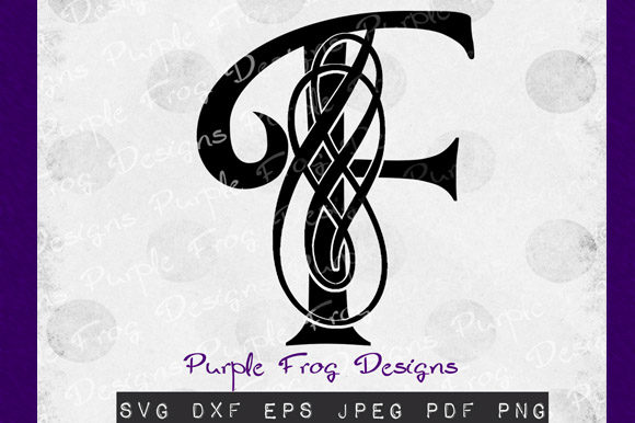 Download Free F Monogram Filigree Monogram Graphic By Heather Terry Creative for Cricut Explore, Silhouette and other cutting machines.