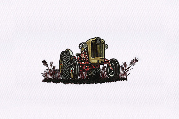 Farm Tractor Transportation Embroidery Design By DigitEMB