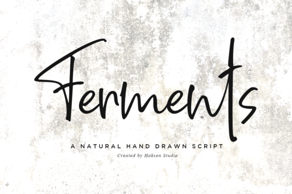 Print on Demand: Ferments Script & Handwritten Font By Haksen