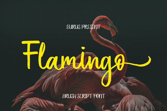 Print on Demand: Flamingo Script & Handwritten Font By Eurus 99