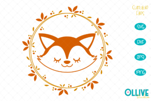 Download Free Fox Wreath Fox Cut File Graphic By Ollivestudio Creative Fabrica for Cricut Explore, Silhouette and other cutting machines.