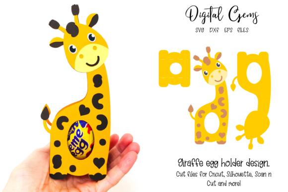 Giraffe Egg Holder Design Gráfico SVG en 3D Por Digital Gems