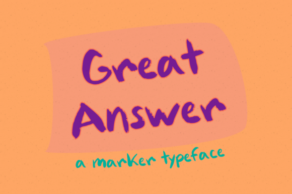 Download Free Great Answer Font By Misti Creative Fabrica for Cricut Explore, Silhouette and other cutting machines.