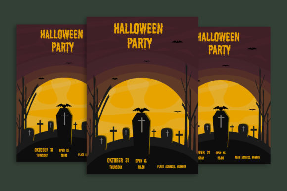 Download Free Halloween Poster Halloween Invitation Graphic By Igraphic for Cricut Explore, Silhouette and other cutting machines.