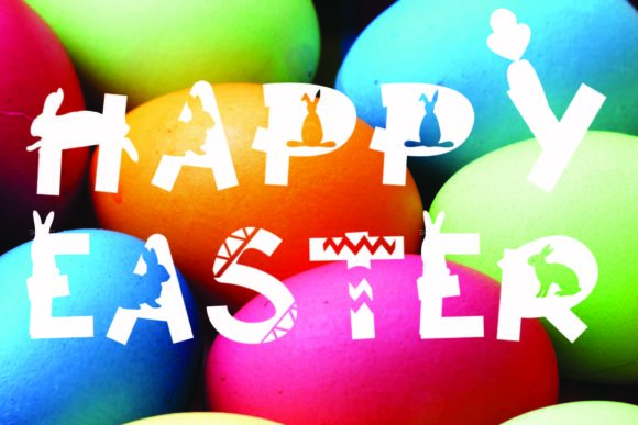 Print on Demand: Happy Easter Display Font By KtwoP