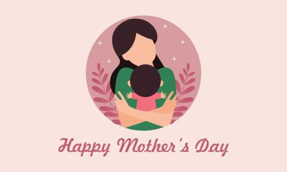 Happy Mother Day, Mom with Children Logo Graphic Logos By 2qnah