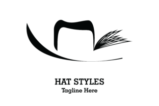 Download Free Hat Styles Ladies Logo Graphic By Yuhana Purwanti Creative Fabrica for Cricut Explore, Silhouette and other cutting machines.