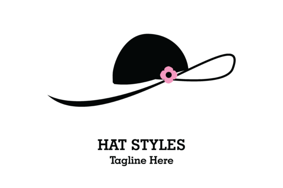 Hat Styles Ladies Logo Vector Graphic By Yuhana Purwanti