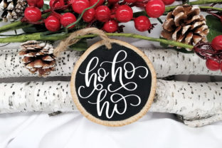 Ho Ho Ho Christmas Round Graphic Crafts By jordynalisondesigns