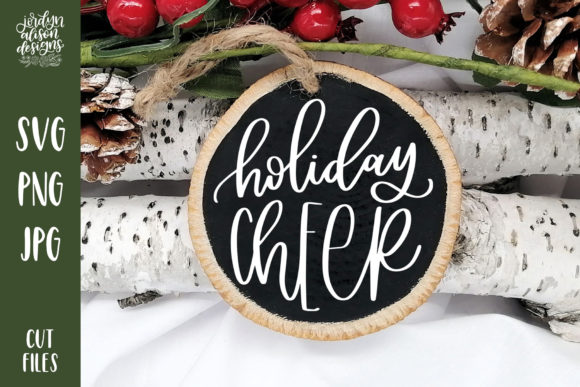 Holiday Cheer Christmas Round Graphic Crafts By jordynalisondesigns