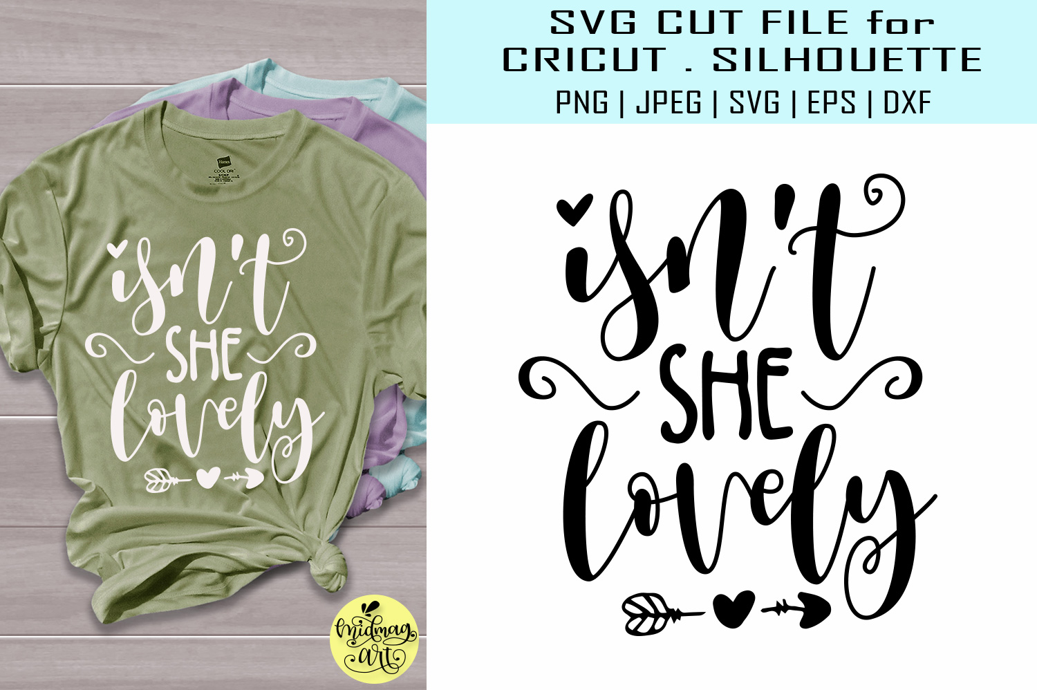 Download Free Isn T She Lovely Baby Shirt Grafik Von Midmagart Creative Fabrica for Cricut Explore, Silhouette and other cutting machines.