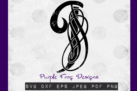 Download Free J Monogram Filigree Monogram Graphic By Heather Terry Creative for Cricut Explore, Silhouette and other cutting machines.
