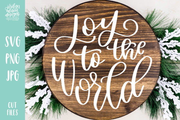 Joy to the World Christmas Round Graphic Crafts By jordynalisondesigns