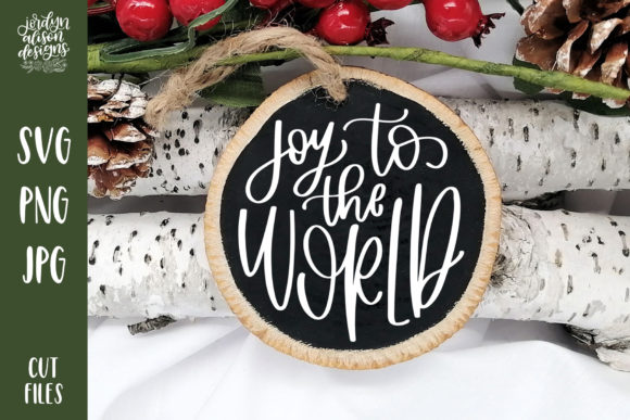 Download Free Joy To The World Christmas Round Graphic By Jordynalisondesigns for Cricut Explore, Silhouette and other cutting machines.