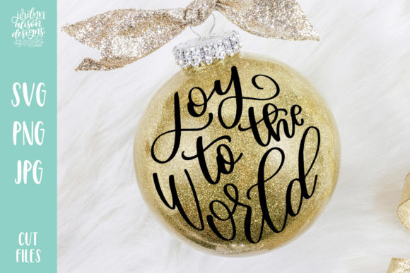 Joy to the World Round Christmas Graphic Crafts By jordynalisondesigns