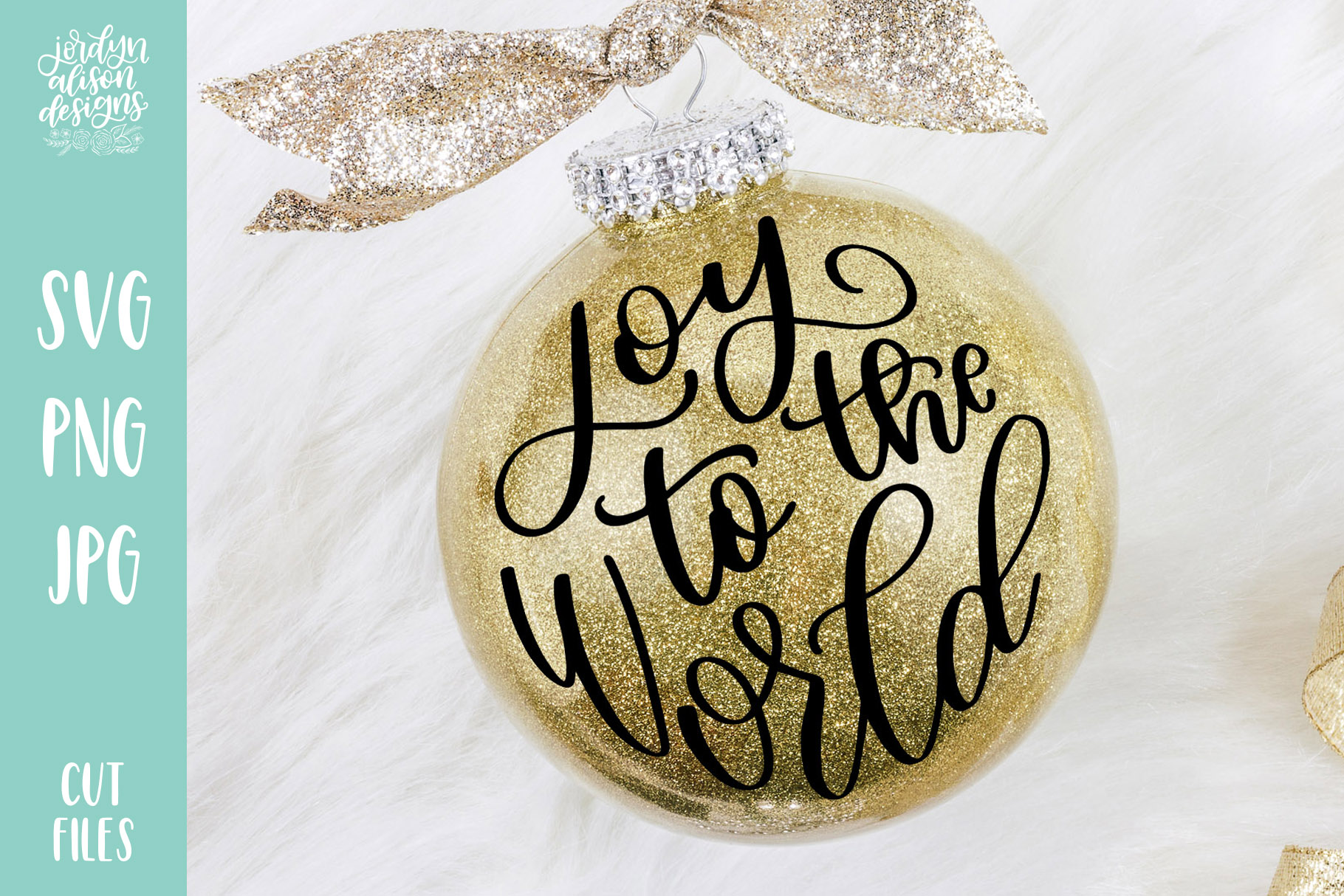 Download Free Joy To The World Round Christmas Graphic By Jordynalisondesigns for Cricut Explore, Silhouette and other cutting machines.