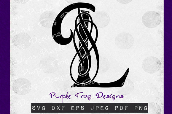 Download Free L Monogram Filigree Monogram Graphic By Heather Terry Creative for Cricut Explore, Silhouette and other cutting machines.