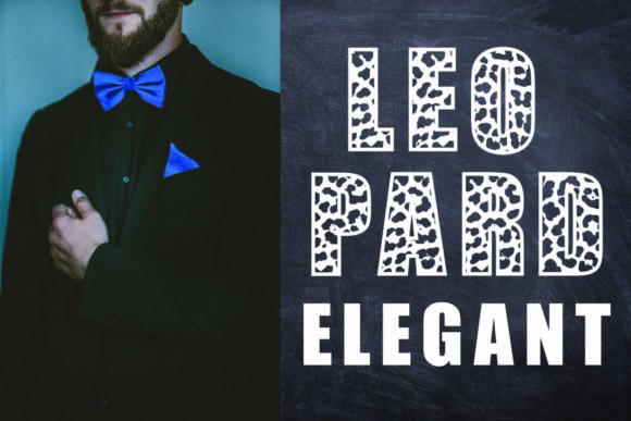 Print on Demand: Leopard Elegant Display Font By KtwoP