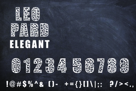 Print on Demand: Leopard Elegant Display Font By Mr.pagman - Image 5
