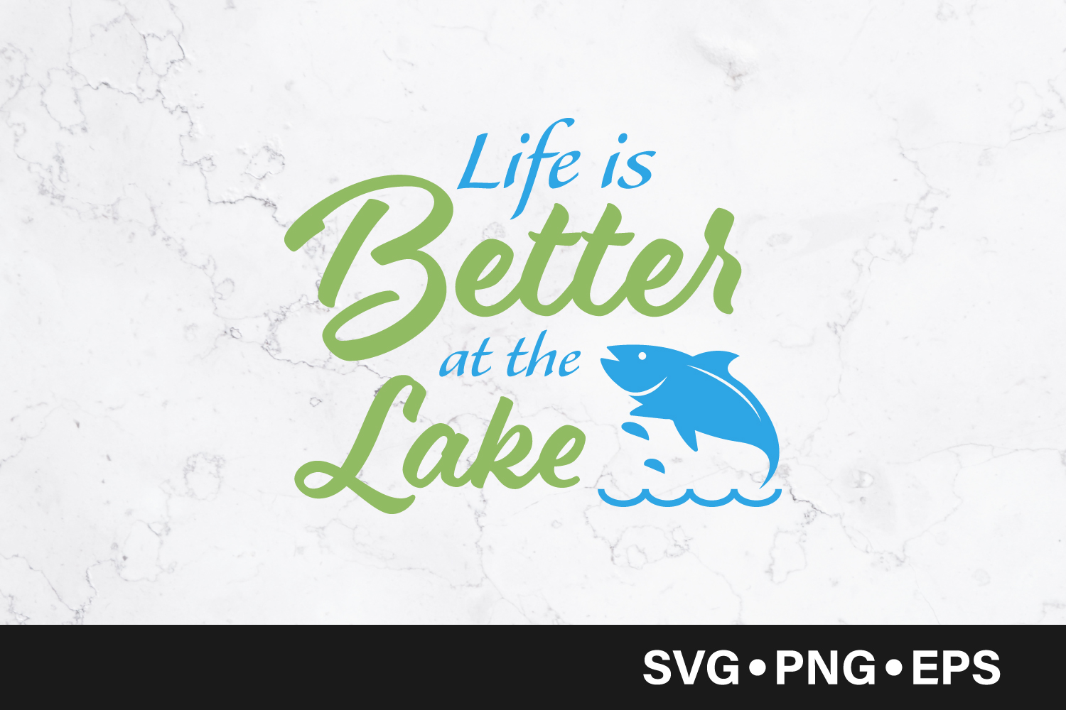 Download Free Life Is Better At The Lake Quote Graphic By Vectorbundles for Cricut Explore, Silhouette and other cutting machines.