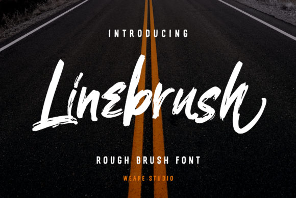 Print on Demand: Linebrush Script & Handwritten Font By Weape Design