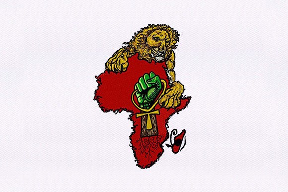 Lion African Continent Wild Animals Embroidery Design By DigitEMB