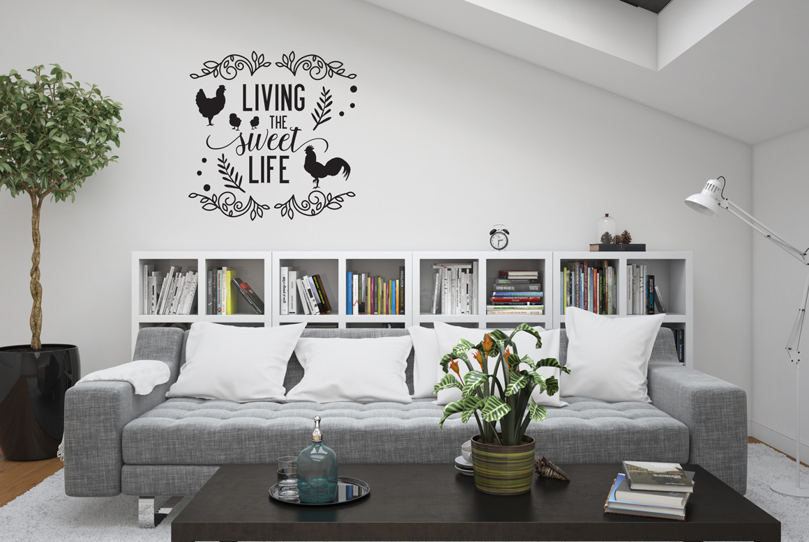 Download Free Living The Sweet Life Graphic By Nerd Mama Cut Files Creative for Cricut Explore, Silhouette and other cutting machines.
