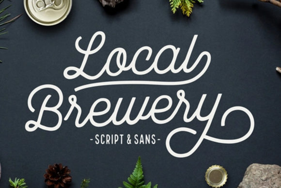 Print on Demand: Local Brewery Script & Handwritten Font By cultivatedmind.types