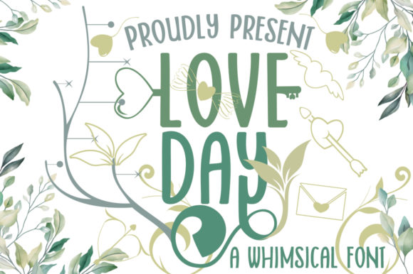 Print on Demand: Love Day Script & Handwritten Font By edwar.sp111