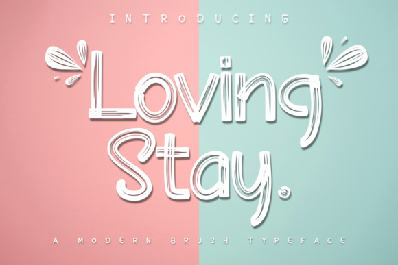 Print on Demand: Loving Stay Display Schriftarten von Halymunt Studio