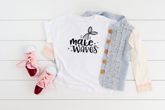 Print on Demand: Make Waves Mermaid Graphic Crafts By Simply Cut Co