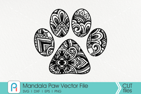 Mandala Dog Paw Graphic Crafts By Pinoyartkreatib