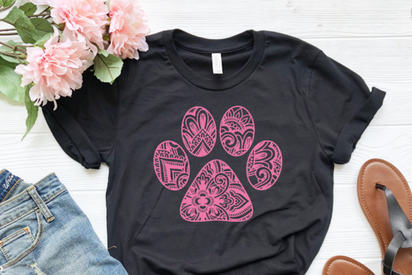 Download Free Mandala Dog Paw Graphic By Pinoyartkreatib Creative Fabrica for Cricut Explore, Silhouette and other cutting machines.