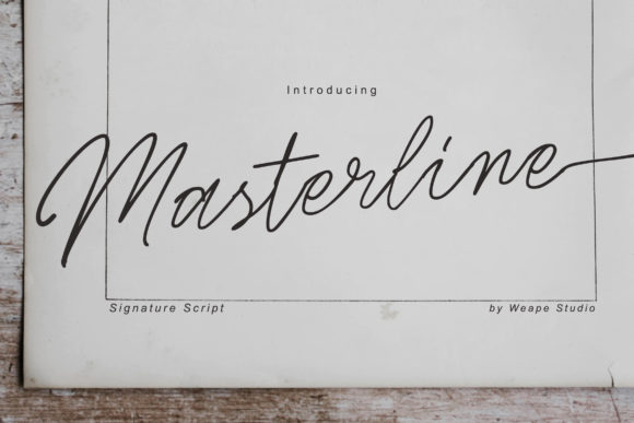 Print on Demand: Masterline Script & Handwritten Font By Weape Design