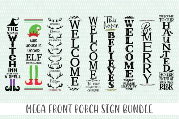 Print on Demand: Mega Front Porch Sign Bundle Graphic Crafts By Simply Cut Co - Image 2