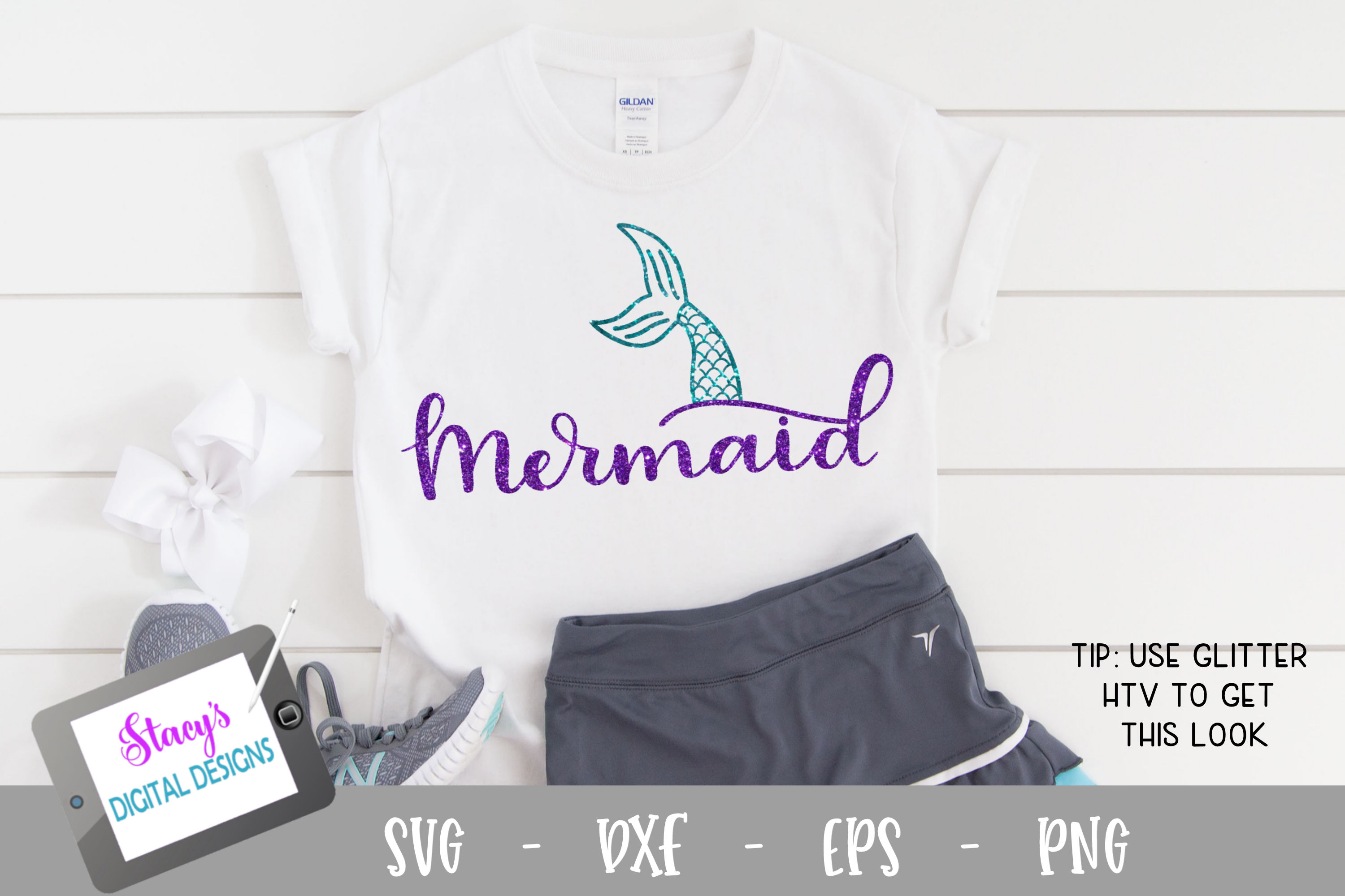 Download Free Mermaid Design Graphic By Stacysdigitaldesigns Creative Fabrica for Cricut Explore, Silhouette and other cutting machines.