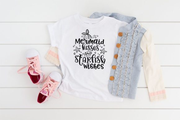 Print on Demand: Mermaid Kisses and Starfish Wishes Graphic Crafts By Simply Cut Co