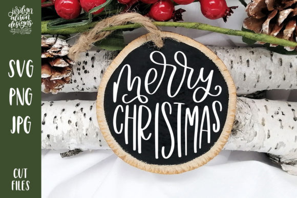 Merry Christmas V2 Round  Graphic Crafts By jordynalisondesigns