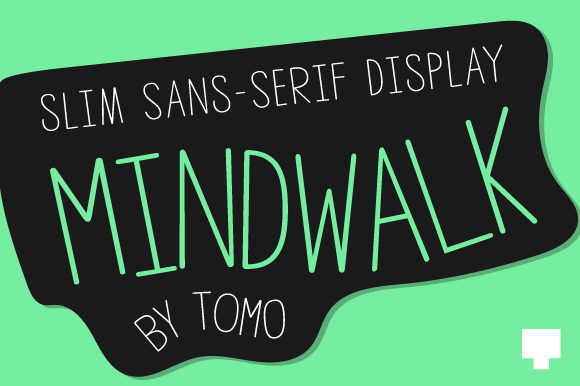 Print on Demand: Mindwalk Display Font By TOMO Fonts